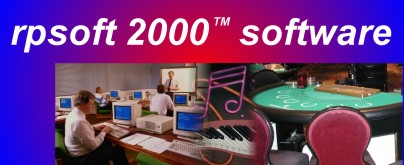 rpsoft 2000 computer software, featuring  productivity software, music software and blackjack software